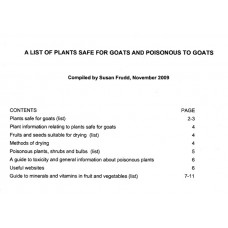 Leaflet on Safe and Poisonous plants for Goats